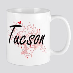 Tucson Arizona City Artistic design with butt Mugs